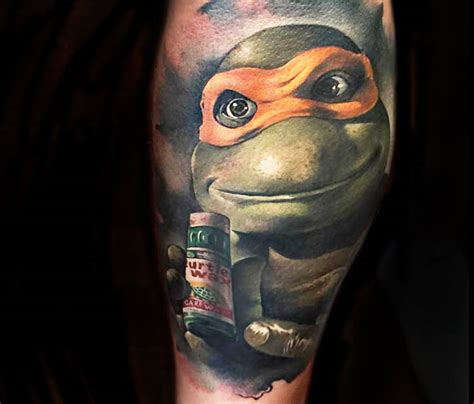 portrait tattoo of ninja turtles by benjamin laukis no 318