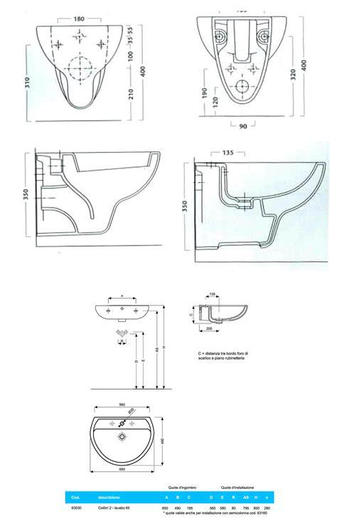 bidet sospeso colibri 2 scheda tecnica sanitari sospesi vaso sedile bidet e lavabo colibri 02