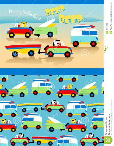 stock pattern matching driving to the beach royalty free stock photo image