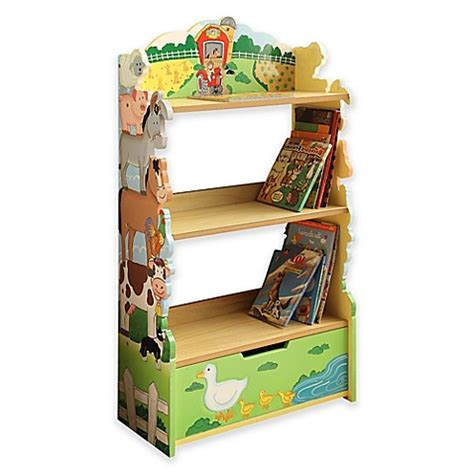 fantasy bookshelf teamson fantasy fields happy farm bookshelf buybuy baby