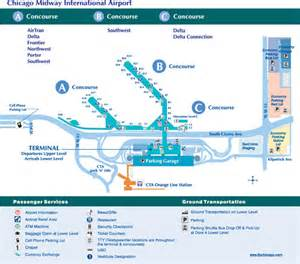 Chicago Midway Airport Map by Overview For Schniderman