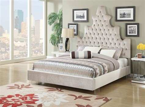 acme furniture  jewel tufted queen bed frame