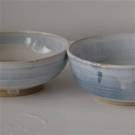 pair of white ceramic cloud cups wheel thrown ceramic 4 oz ounce porcelain tea bowl blue from bwdartco on etsy
