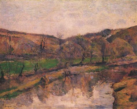 Landscape Paintings Reproductions Painting Reproduction Of Gauguin Landscape In Bretani