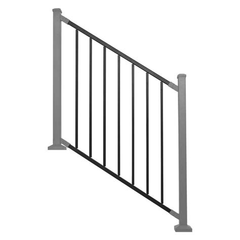 Banister Guard Home Depot by Railing Panel Black Metal Stair Rdi Common 8 Ft X 32 In