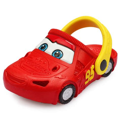 cars slippers for toddlers boys colgs car character light up sandals shoes for