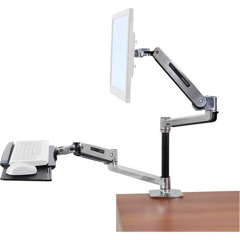 ergotron sit stand desk ergotron workfit lx sit stand desk mount system 45 405 026 b h