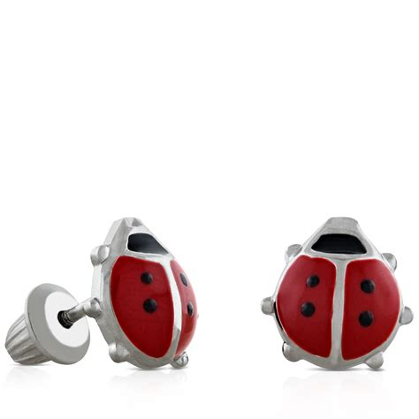 baby ladybug earrings in silver ben bridge jeweler