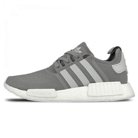 Sepatu Adidas Nmd Runner Grey White adidas nmd r1 runner charcoal solid grey light solid grey