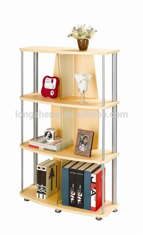 3 tier wooden grain portable bookcase for living room