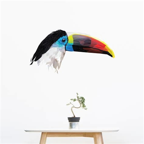 Origami Toucan - sticker origami toucan stickers animaux oiseaux