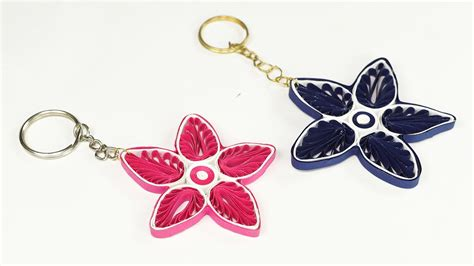 How To Make A Keychain With Paper - paper quilling how to make key chain from quilling