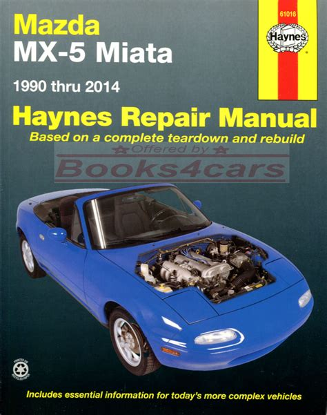 manual repair autos 2009 mazda miata mx 5 parking system miata shop manual mx5 service repair mazda mx 5 book haynes chilton workshop ebay