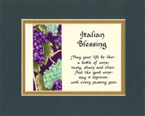 Wedding Blessing In Italian by Italian Blessing Matted Wall Sign Keepsake