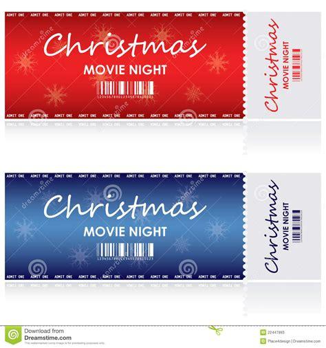 Boleto para la Navidad ilustración del vector. Imagen de