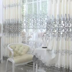 Discount Home Decor Canada 2015 new europe embroidered tulle window curtains for