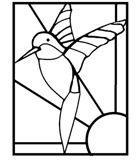 stained glass window templates mosaic templates printable free hummingbird hummingbirds