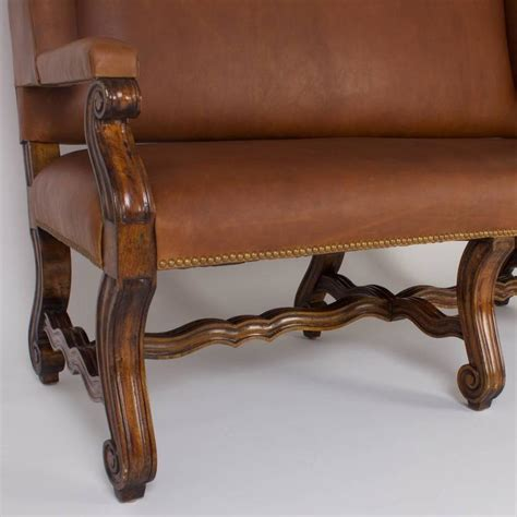 brown leather settee sale handsome ralph lauren style brown leather settee for sale