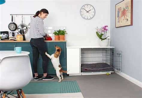 how to make a crate look like furniture stylish new crate looks just like furniture and even includes a doggie wardrobe