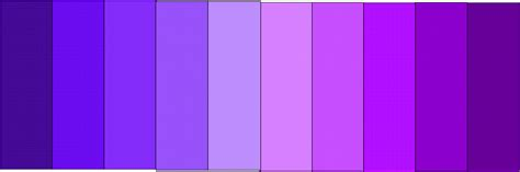 purple l shade shades of purple paint chart imgkid com the image