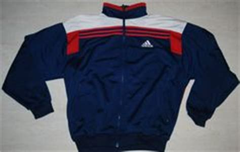 Jaket Adidas Jad01 White Blue vintage adidas tracksuit top jacket mens womens blue