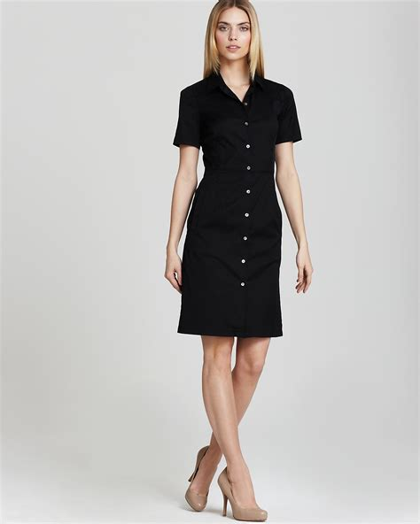 Theory Button Front Dress   Timandra Impeccable Collar   Bloomingdale's
