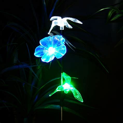solar hummingbird light hummingbird solar lights for garden home design inspirations