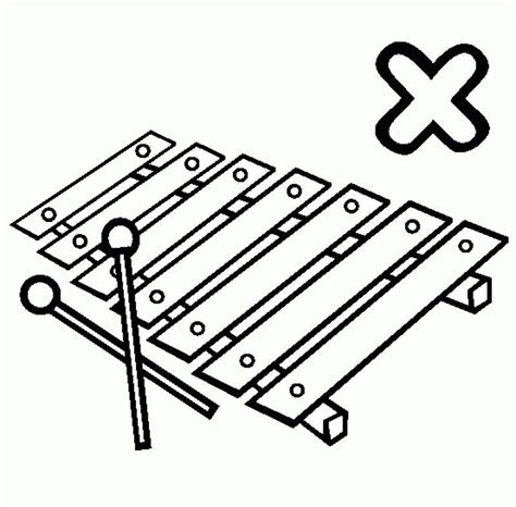 free coloring pages of xylophone xylophone coloring page coloring home