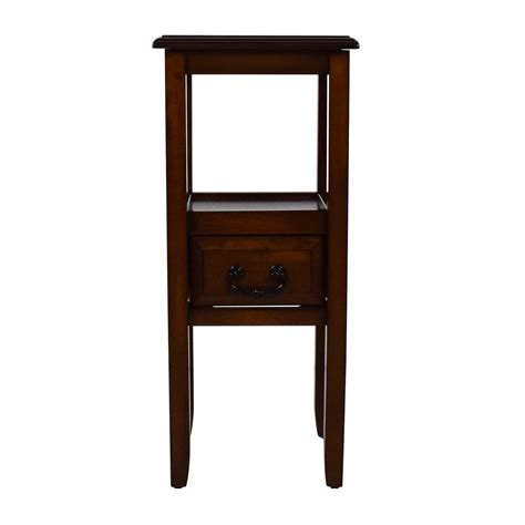 pier 1 end tables 79 off black nightstands with drawer and shelf tables