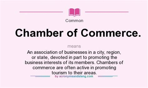 chambr馥 d馭inition what does chamber of commerce definition of