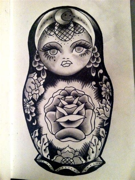 traditional tattoo design drawing russian tattoo graphite