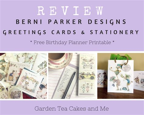 printable greeting cards reviews stationery review greetings cards berni parker designs