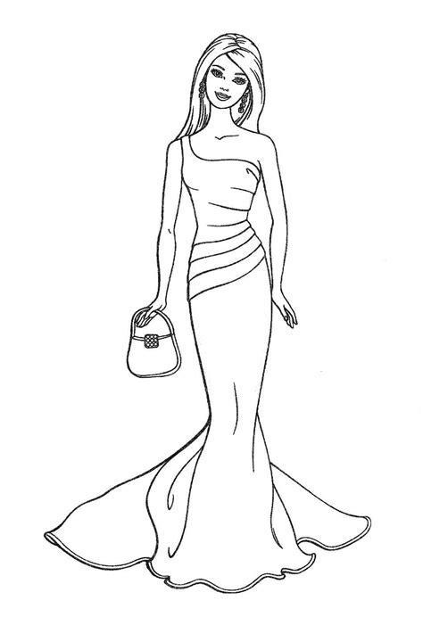 large barbie coloring pages princess coloring pages for girls free large images