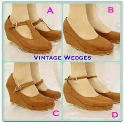 Sandal Pita Vintage Wedges murah sandal wanita sepatu wanita wedges boots