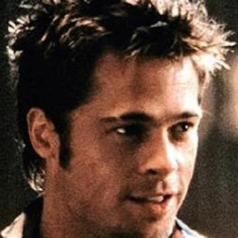 tyler durden hairstyle brad pitt haircut fight club www imgkid com the image