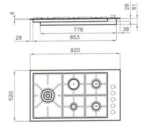 piano cottura filotop foster 7257032 piano cottura inox 5 fuochi s4000 filotop
