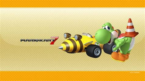 Yoshi Mariokart7 mario desktop wallpaper from nintendo 3ds
