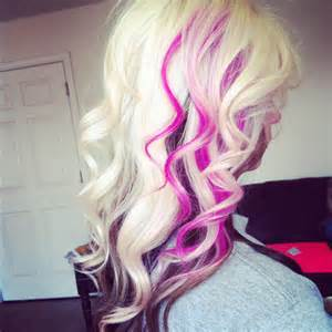 color underneath hairstyles platinum hair with pink streaks hair colors ideas