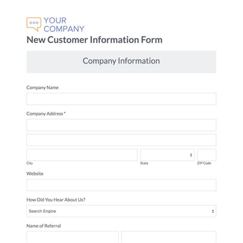 customer setup form template customer setup form template gallery template design ideas
