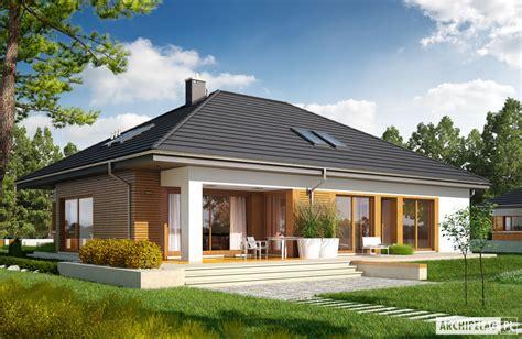 Farmhouse Floor Plans With Wrap Around Porch by Domy Parterowe Z Poddaszem Do P 243 źniejszej Adaptacji