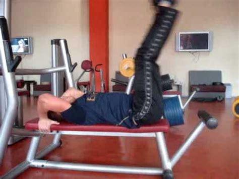 lying bench leg raise fitnessmonster net flat bench lying leg raise youtube