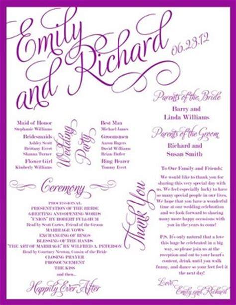 Extra Creative Programs Weddings Fun Stuff Do It Yourself Planning Wedding Forums Creative Wedding Program Templates