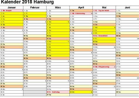 kalender 2018 hamburg ausdrucken ferien feiertage