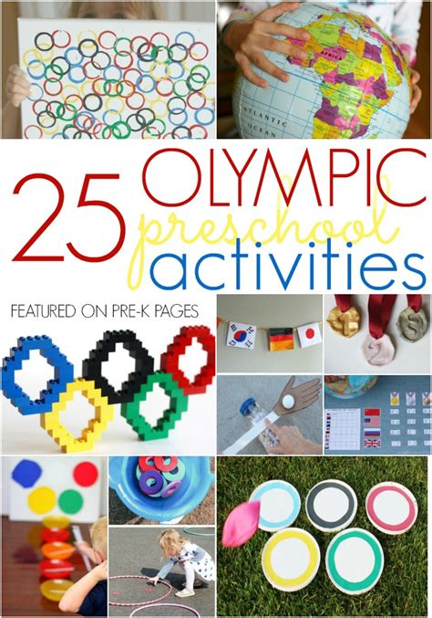 themes for olympic games activities to celebrate the olympics with preschool pre