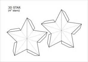 3d christmas star template invitation template