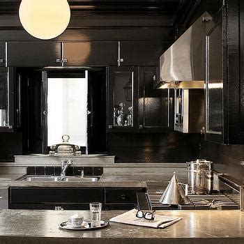 Black Lacquer Kitchen Cabinets Kitchen Cabinets With Concrete Countertops Design Ideas