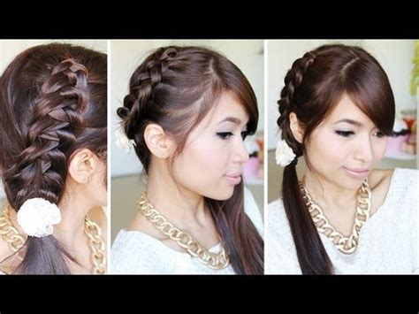 running late ponytail hairstyles 183 just bebexo a how to 2 strand twist rope braid hairstyle hair tutorial