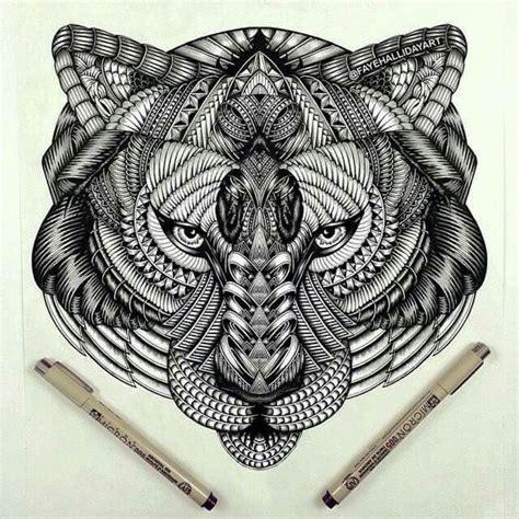 mandalas and tiger on pinterest