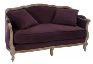 canap 233 berg 232 re 2 places aubergine 154x77x91cm j line by