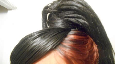 v shaped quick weave 27 pieces 27 piece quick weave with ponytail tutorial youtube